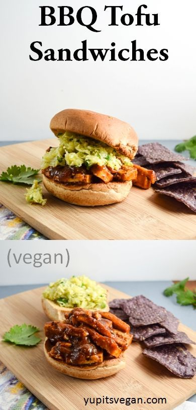 BBQ Tofu Sandwiches | yupitsvegan.com. Recipe for hearty vegan BBQ tofu sandwiches, adapted from Cook the Pantry by Robin Robertson.