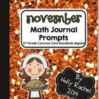 November Math Journal Prompts Second Grade  This fantastic pack of Common Core aligned Math journal prompts is perfect for the month of November. T...