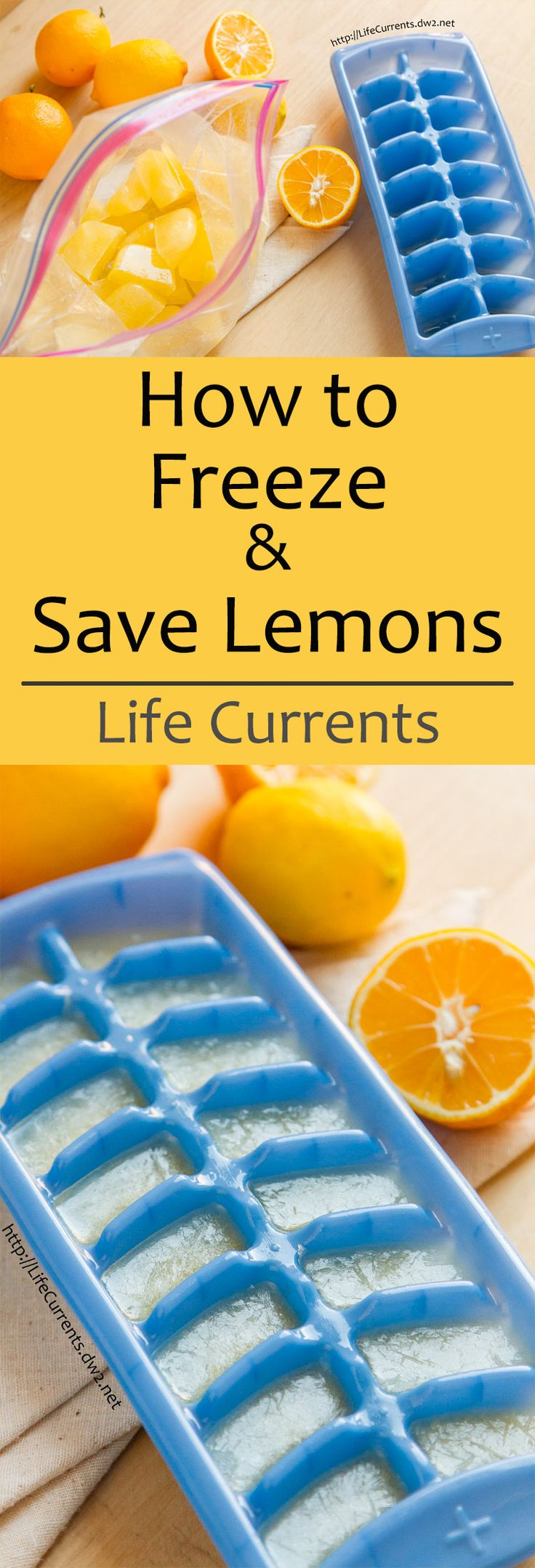How to Freeze and Save Lemons by Life Currents. A super easy way to have fresh lemon juice all the time!