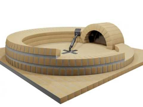 Building Brick Oven With Trammel - YouTube