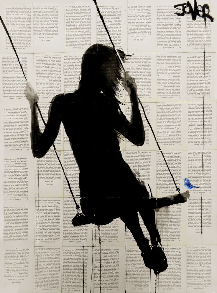 Louie Jover ~ Silhouette swing and bluebird