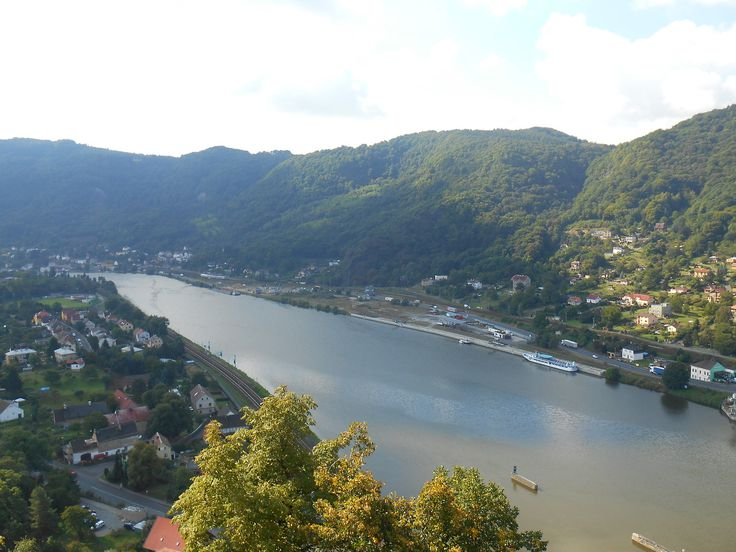 River Elbe in Usti nad Labem