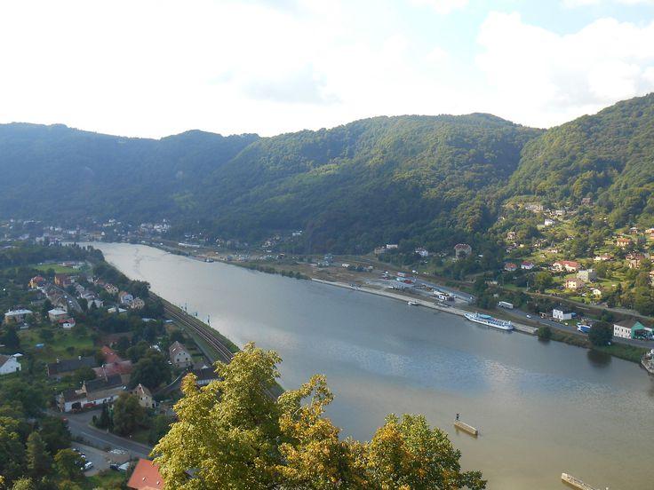 River Elbe in Usti nad Labem