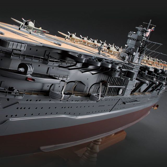 The IJN Akagi, iconic flagship of the Imperial Japanese Navy, was part of the Japanese fleet that brought the USA into World War II.