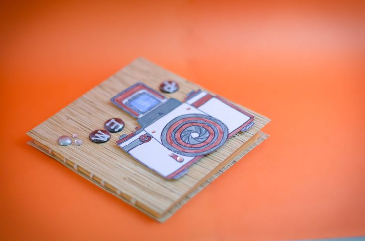 Tutorial como hacer un mini album con una sola hoja de carton DIY scrapbook