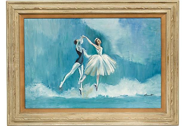 Vintage Ballet Painting on OneKingsLane.com