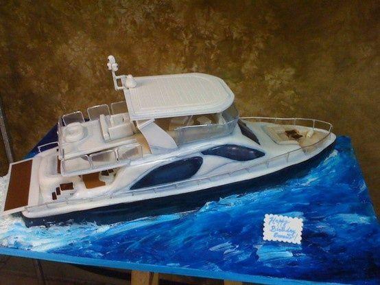 Best Boat Cake Images On Pinterest Boat Cake Fishing Cakes - Boat birthday cake ideas