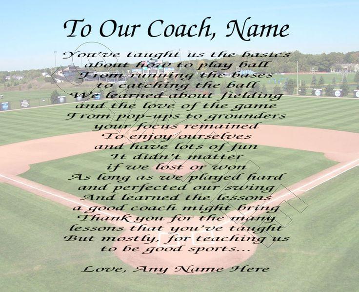 Best 25+ Baseball coach gifts ideas on Pinterest   Coach gifts ...