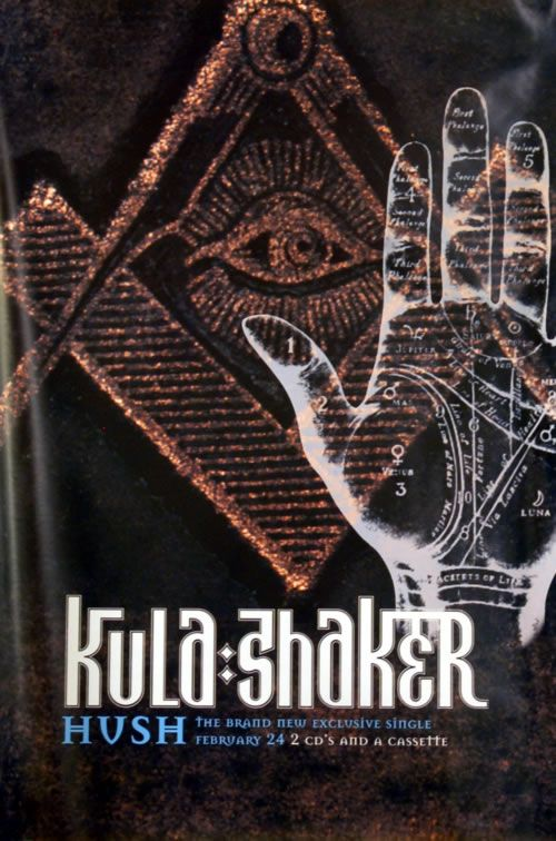 For Sale - Kula Shaker Hush UK Promo  poster - See this and 250,000 other rare & vintage vinyl records, singles, LPs & CDs at http://eil.com