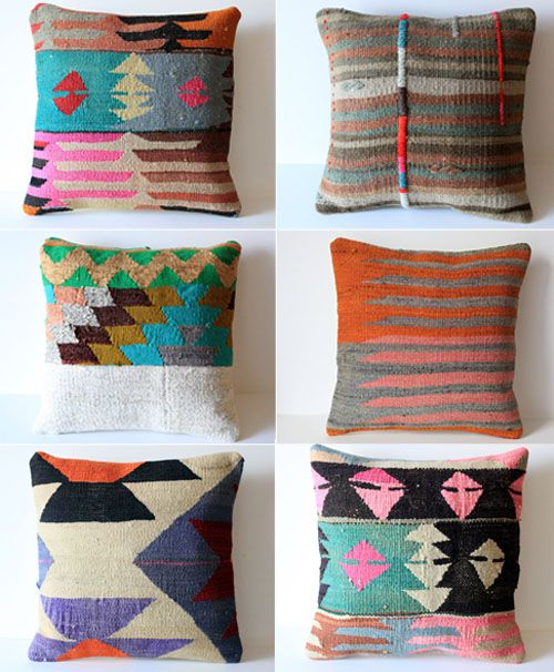 So much goodness.: Kilim Pillows, Bedrooms Pillows, Color, Accent Pillows, Cushions, Throw Pillows, Aztec Pillows, Design Home, Textile
