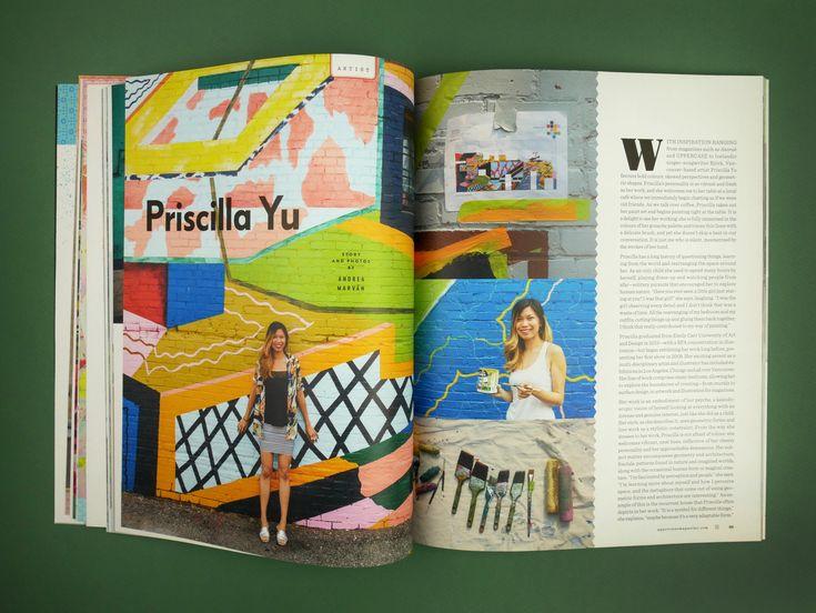 UPPERCASE issue 36 January/February/March 2018  Priscilla Yu murals
