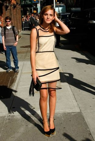 Emma Watson in Christopher Kane.  The Late Show with David Letterman, July 2009.