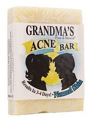 Grandmas Soaps Acne Control Bar Normal 4 Oz by Lotus Light. $5.23. Features aloe, lye and oatmeal. Acne Bar from Grandma's Pure & Natural. Formulated for normal skin. Ideal for normal skin types, Grandma's Acne Bar nourishes and promotes clear skin. Use this pure, natural soap as your only soap because it won't clog pores. Grandma's recommends using it in your morning shower and then for washing your face at 5 pm and again at bedtime to start and then reduce it t...