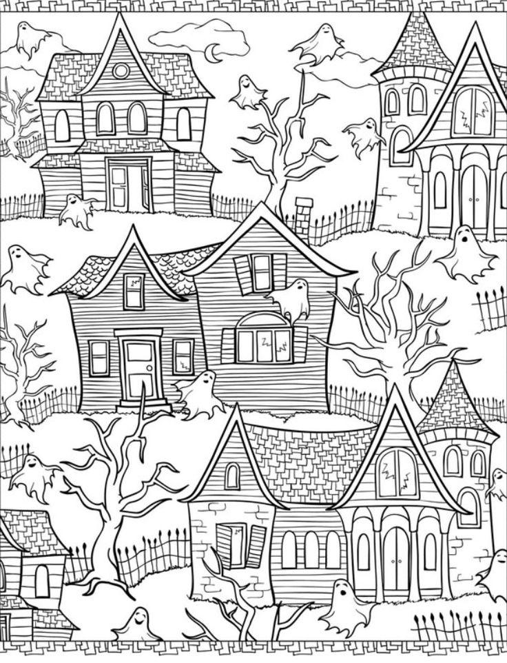 41 besten Halloween Bilder auf Pinterest | Malbücher, Ausmalen und ...