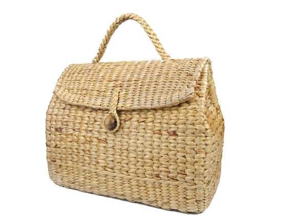 Straw House-Shaped Tote Bag Woman Spring Summer Beach Handbag