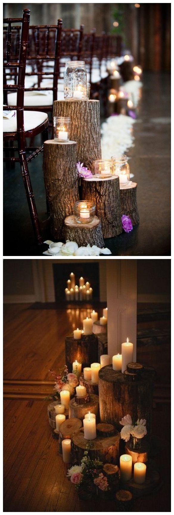 rustic boho tree stump wedding decor / http://www.himisspuff.com/rustic-wedding-ideas-with-tree-stump #weddingdecorations