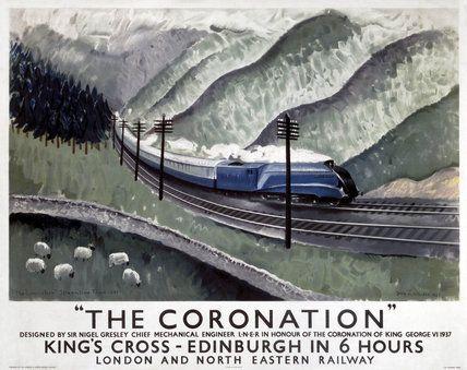 'The Coronation', LNER poster, 1937.