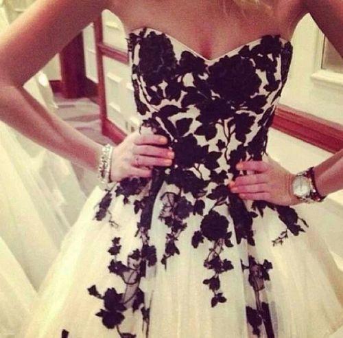 Black and white wedding dress - Your own fashion