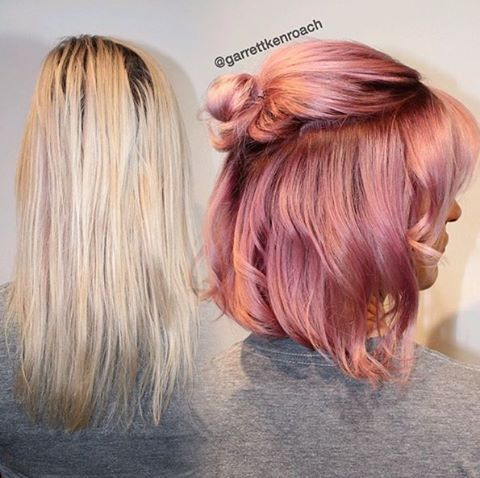 Cheers to this metallic champagne pink! @garrettkenroach used #KenraColor 7SM…