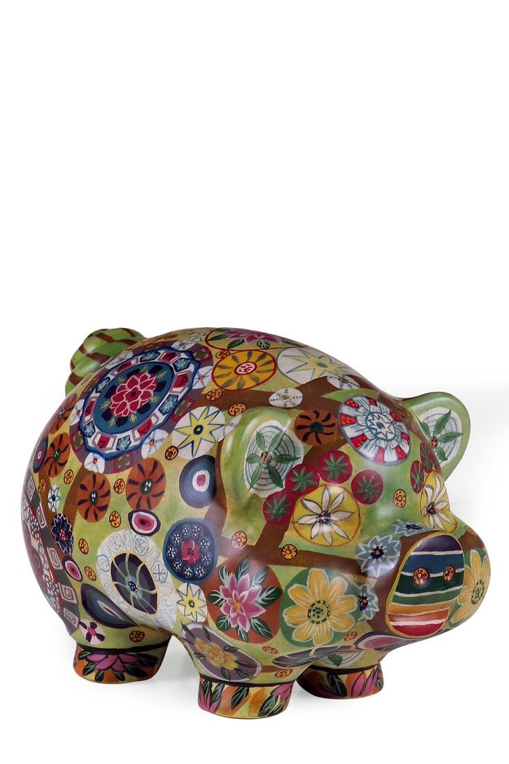 154 best painted piggy banks images on Pinterest  Piggy banks