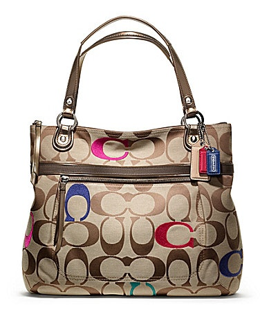COACH POPPY EMBROIDERED SIGNATURE C GLAM TOTE � Cheap Michael Kors HandbagsCoach  ...