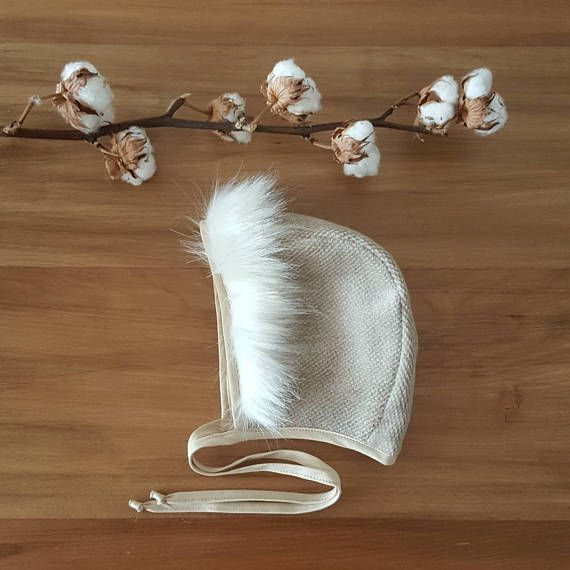 Check out this item in my Etsy shop https://www.etsy.com/listing/572849955/gift-baby-bonnet-faux-fur-toddler-hat