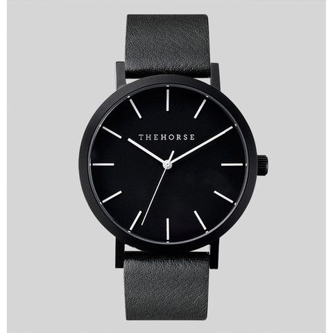 WATCH: matt black   black leather www.shoptrawl.com