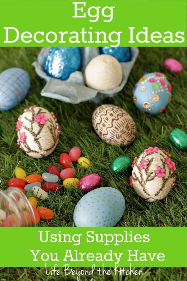 Fun Decor Eggs From Supplies You Already Have Fun Decor Craft Stash Easter Diy