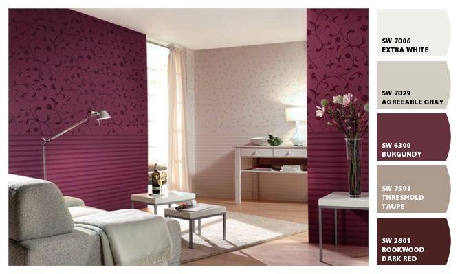Pintura de paredes color borgo a buscar con google colores recamara pinterest colores y for Colores grises para paredes interiores