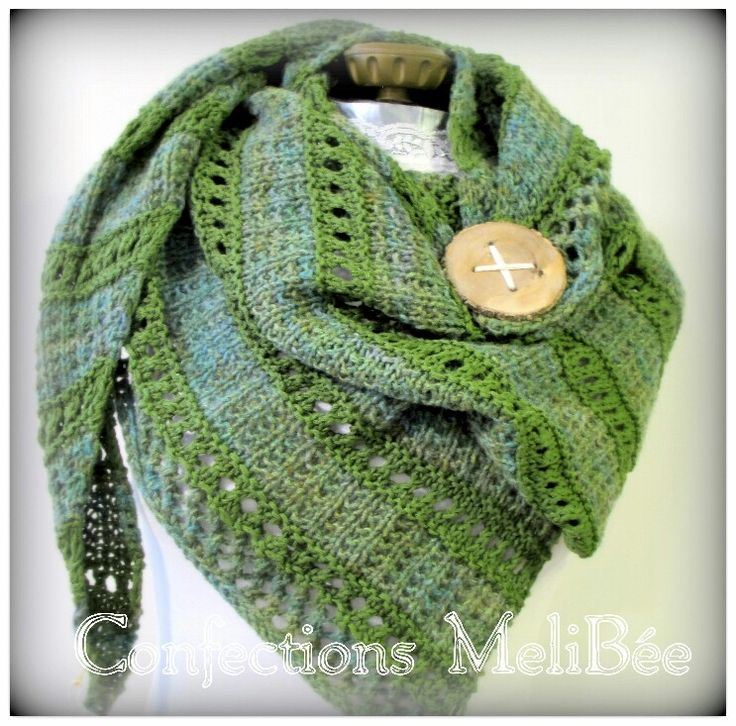 Excited to share the latest addition to my #etsy shop: Knitted shawl/ Knitted scarf/ Handmade - Shawl (Foulard) tricoté à la main #accessories #shawl #green #knittedshawl #recycledfibers #recycledshawl #handmade #scarf http://etsy.me/2D7UVyo