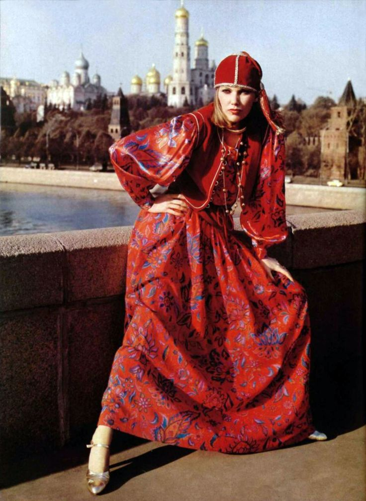 "Saint Laurent Rive Gauche - L'officiel magazine 1976  I love the ""gypsy princess"" vibe of Rive Gauche...not always practical but there's a lot of magic there :)"