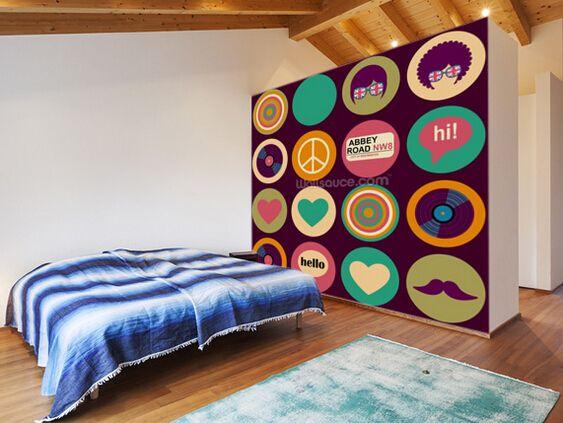 Aliexpress.com: Mua Nghệ thuật tùy chỉnh hình nền, pop Art Người Anh nhạc mô hình, 3D retro hình nền cho phòng ngủ nhà hàng bếp tường hình nền không thấm nước từ đáng tin cậy wallpaper football nhà cung cấp về Just now wallpaper Co., Ltd.