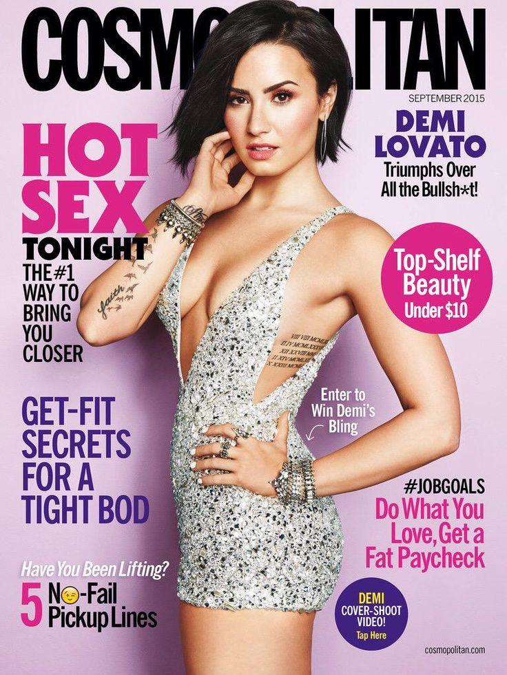 Demi Lovato Cosmopolitan September cover issue scan http://demilovatophotos.com/thumbnails.php?album=333 …