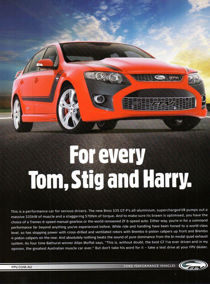 https://flic.kr/p/QUC4vW | 2011 FG Ford Falcon 335 GT-P FPV Page 1 Aussie Original Magazine Advertisement