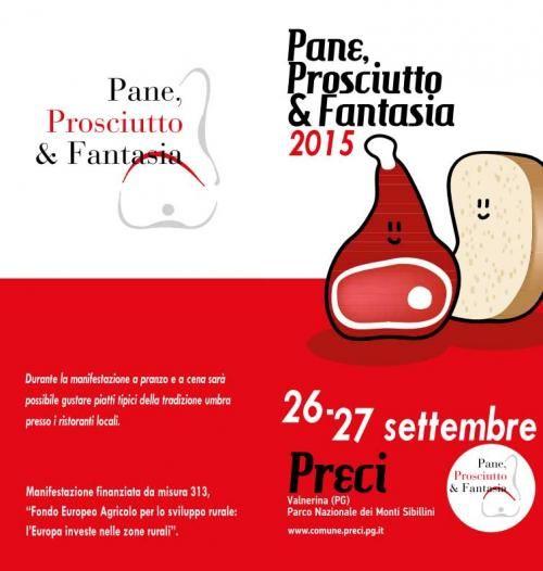 Pane, Prosciutto e Fantasia, programma completo del 27 e 28 settembre a Preci (PG)