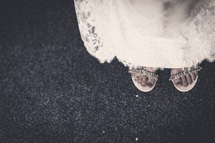 WEDDING DRESS - french lace - bridal inspiration - design - SUPERTRASH sandals - gold stones - golden OPI nailpolish liquid sand