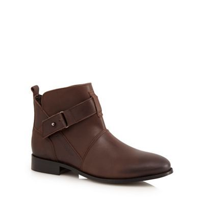 Hush Puppies Brown 'Vita' buckled low ankle boots | Debenhams