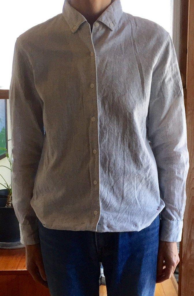 上げ 裾 t シャツ
