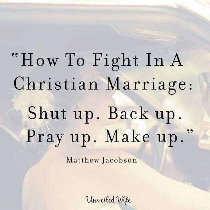 How to Fight in a Christian Marriage: