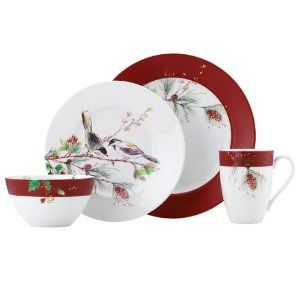 Lenox Winter Song 4-Piece Place Setting : Amazon.com : Kitchen  Dining