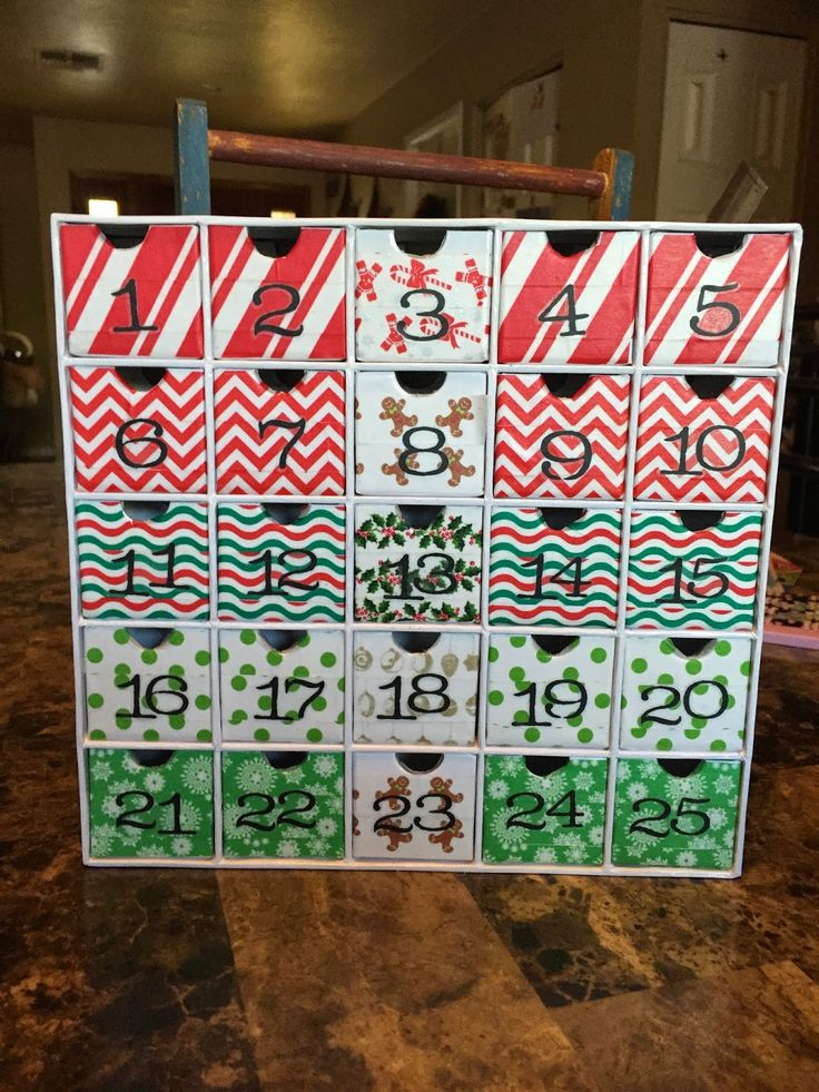 Calendar Gift Ideas For Girlfriend : Diy advent calendar for a teen girl i made that