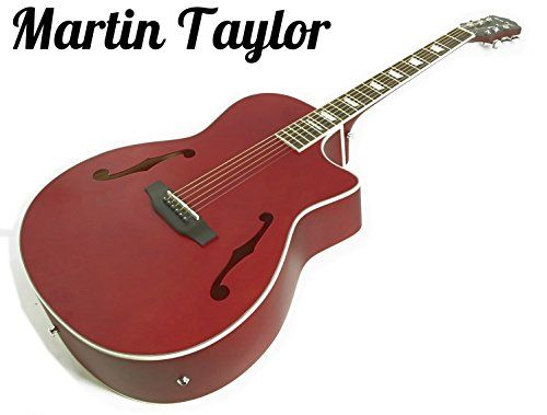Martin Taylor Electric Electro semi Acoustic hollow body guitar (satin cardinal red) Fender picks The Single Cutaway Electro semi acoustic Guitar by Martin Taylor is the perfect solution for any guitarist looking for versatility, style and value with their acoustic so (Barcode EAN = 5060218753360) http://www.comparestoreprices.co.uk/december-2016-6/martin-taylor-electric-electro-semi-acoustic-hollow-body-guitar-satin-cardinal-red-fender-picks.asp