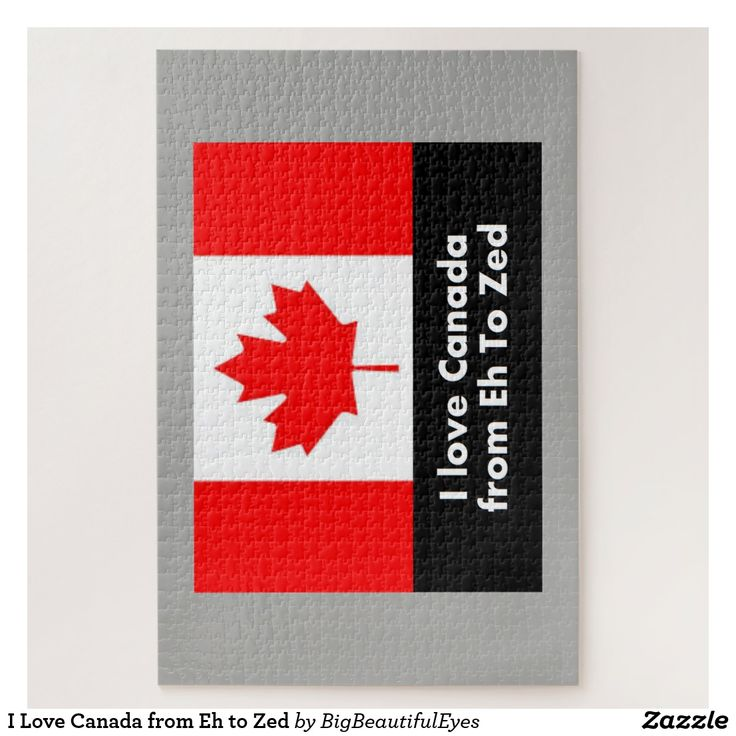 I Love Canada from Eh to Zed puzzle
