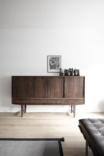 Walnut Sideboard With Tall Legs Great For Small Spaces To Create Airy Feeling House Tour