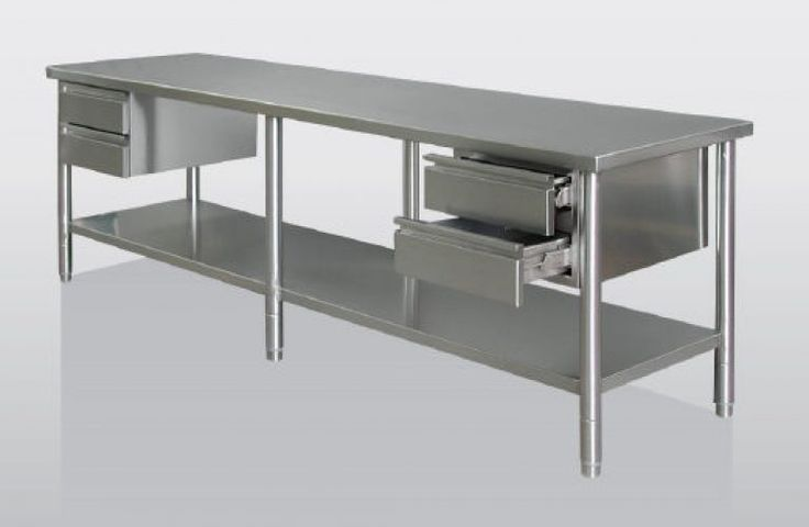 25 best ideas about stainless steel work table on for Kitchen work table plans