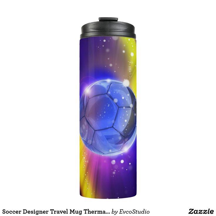 Soccer Designer Travel Mug Thermal Tumbler