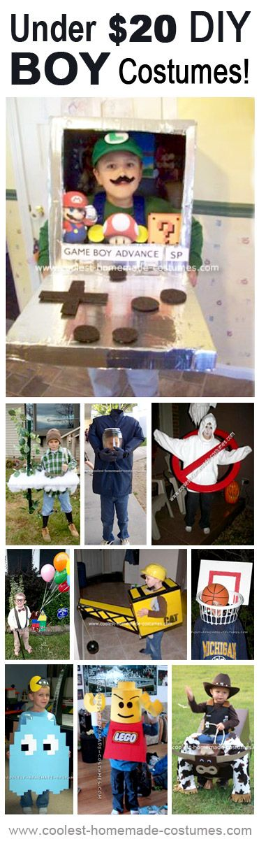 Still looking for a Halloween costume idea? Check out these great under $20 DIY boy costume ideas!