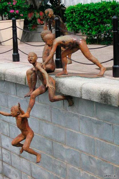Dark Roasted Blend: Monstrous, Angelic, Unusual Bridge Sculptures