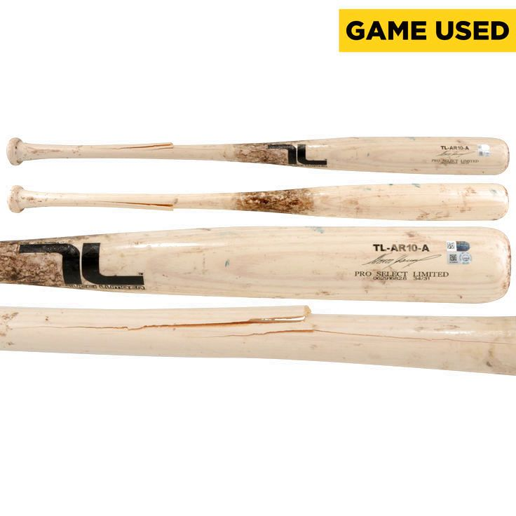 Alexei Ramirez San Diego Padres Fanatics Authentic Game-Used Blonde Tucci Lumber Broken Bat vs Colorado Rockies on May 4, 2016 - $78.37