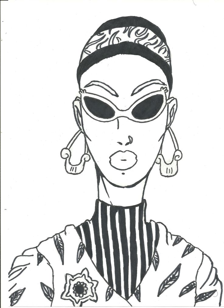 New fashion illustration - sunglasses rule :)